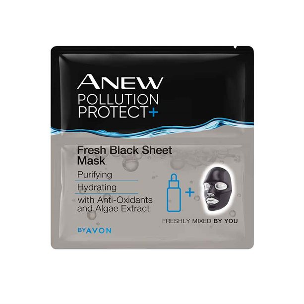 Avon Anew Pollution Protect Fresh Black Sheet Mask
