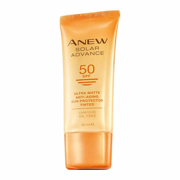 Avon Anew Solar Advance Ultra Matte SPF50 Tinted Sun Cream - 50ml
