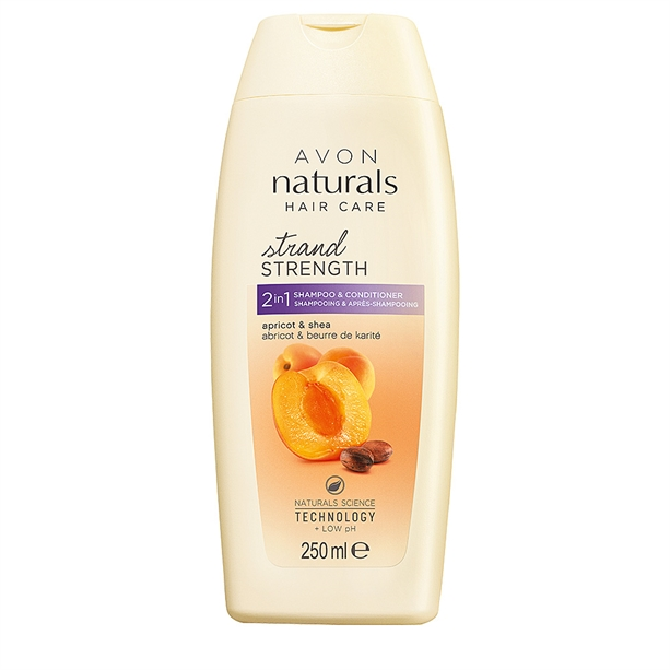 Avon Apricot & Shea Butter 2-in-1 Shampoo & Conditioner - 250ml