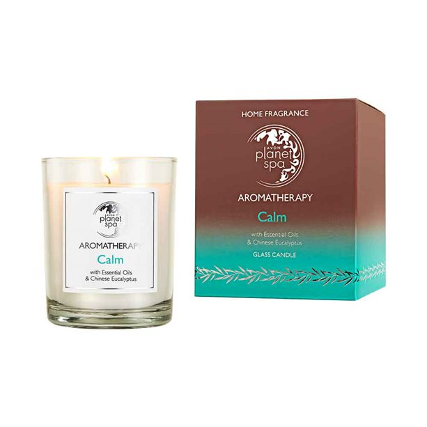 Avon Aromatherapy Essential Oils Calm Glass Candle - 160g