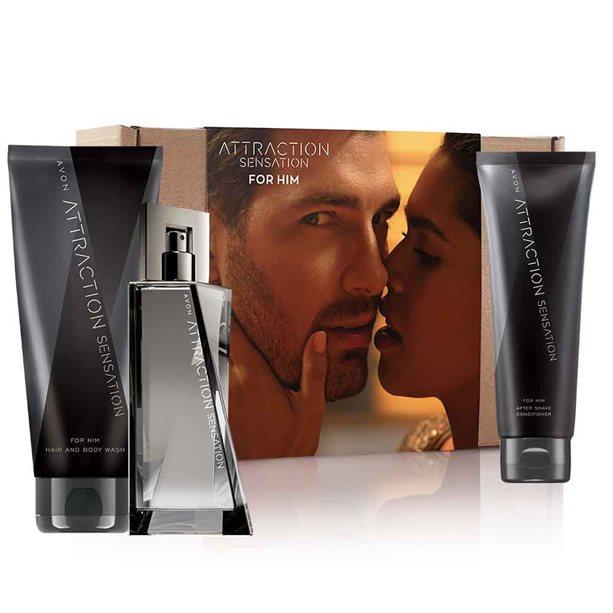 Avon Attraction Sensation for Him Aftershave Gift Set