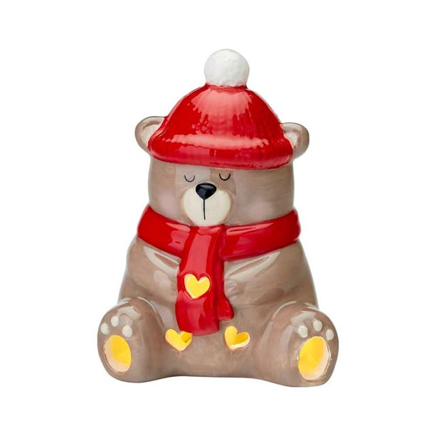 Avon Ceramic Bear LED Tealight - Boho Chic