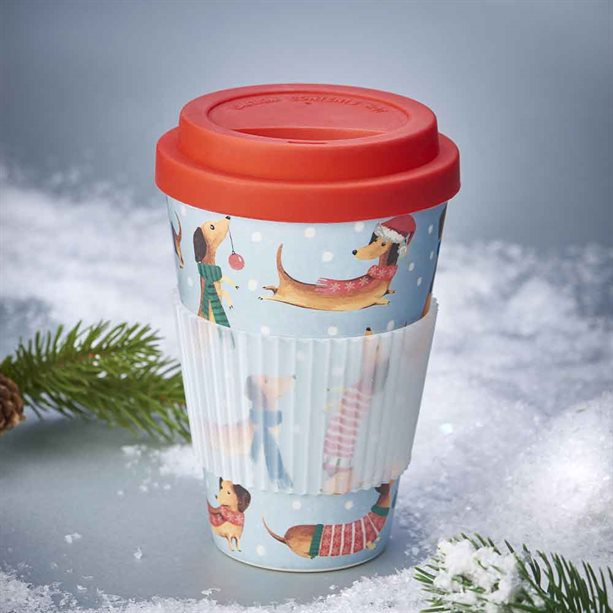 Avon Christmas Bamboo Travel Mug