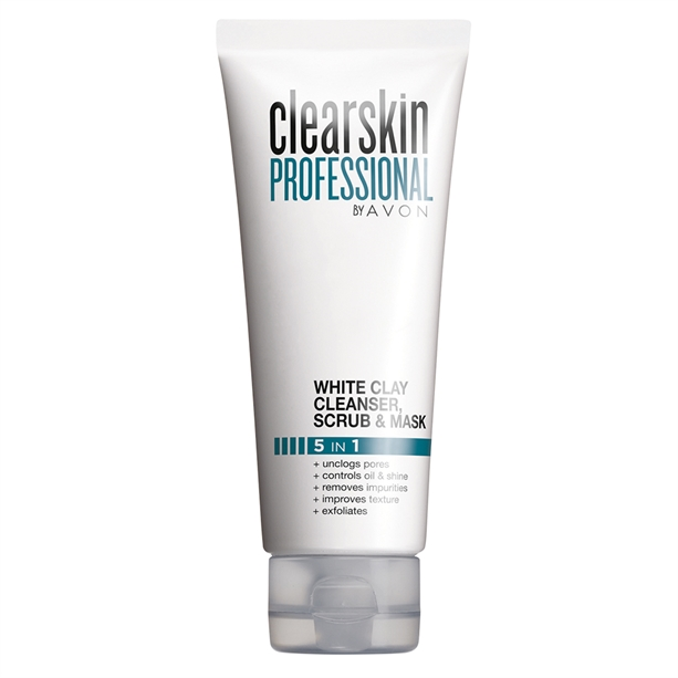 Avon Clearskin Professional White Clay Cleanser, Scrub and Face Mask - 75ml