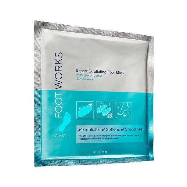 Avon Exfoliating Foot Mask Socks - 1 Pair