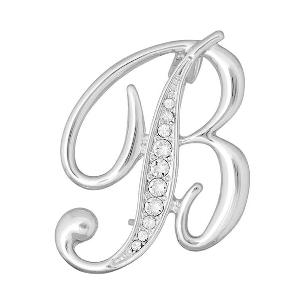 Avon Initial Brooch Embellished with Crystals from Swarovski® - S