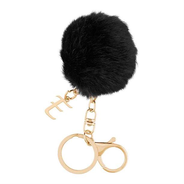 Avon Initial Pom Pom Key Ring - N
