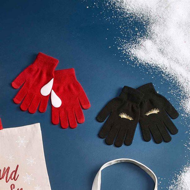 Avon Novelty Gloves - Eyelashes / Black