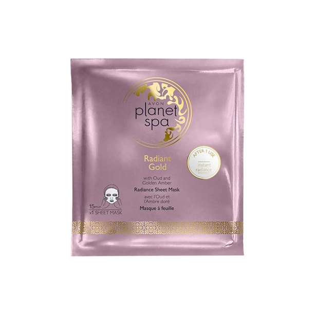 Avon Planet Spa Radiant Gold Sheet Mask