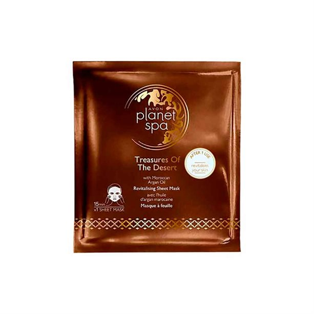 Avon Planet Spa Treasures Of The Desert Sheet Mask