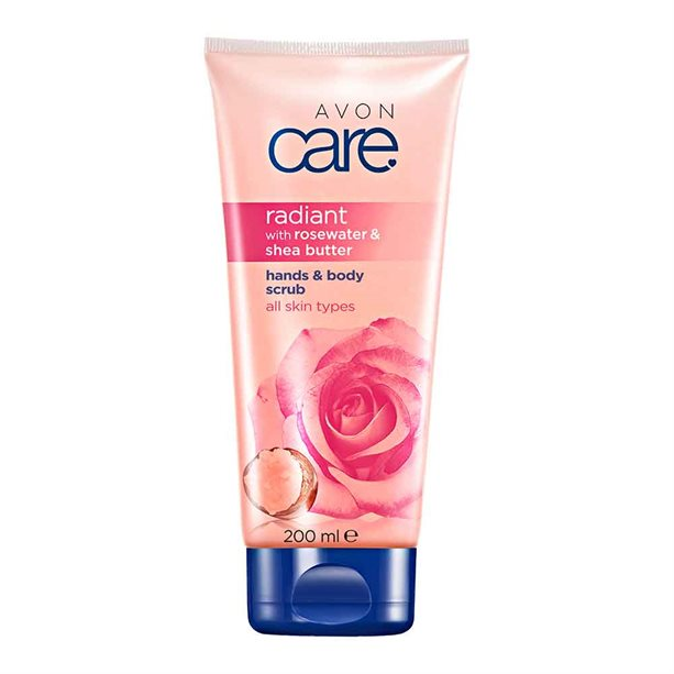Avon Radiant Rosewater & Shea Butter Hands & Body Scrub - 200ml