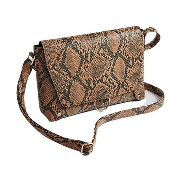 Avon Snake-Print Cross-Body Bag