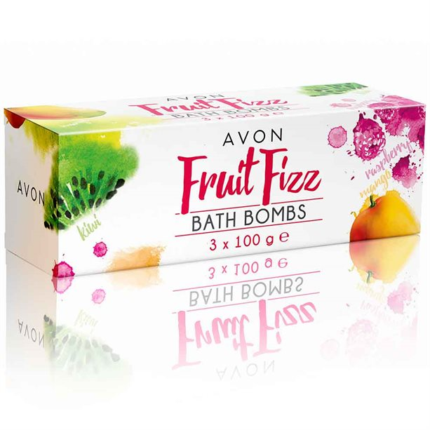 Avon Trio of Fruit Fizz Bath Bombs